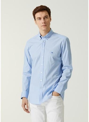 Etro Etro  Düğmeli Yaka Logolu Gömlek 101617701 Mavi